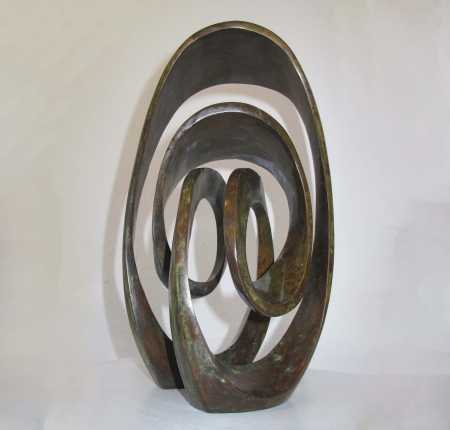 milky way-BRONZE-with--TEAL--PATINA[,Free-standing,bronze-outdoor]blazeski-australian-abstract-sculpture
