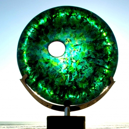 disc sculpture green sydney