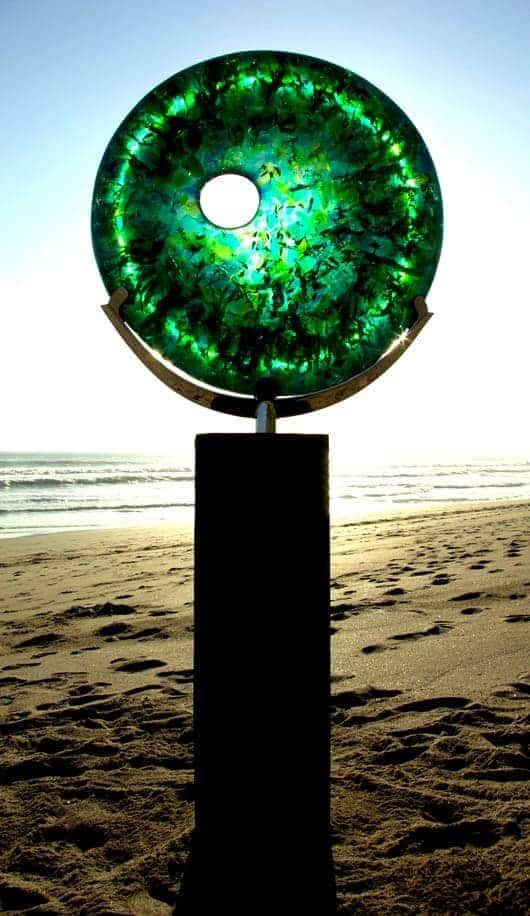 disc sculpture green sydney