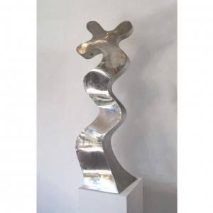 Latin-Dancers-120x90cm-POLISHED-STAINLESS-STEEL-[stainless-steel,outdoor,-free-standing]-stephen-Coburn-australian-large-garden-sculpture