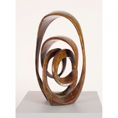 Moon-on-Tides-86cm-BRONZE-[Free-standing,bronze]blazeski-australian-abstract-sculpture