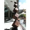 Stacked cube totem sculpture
