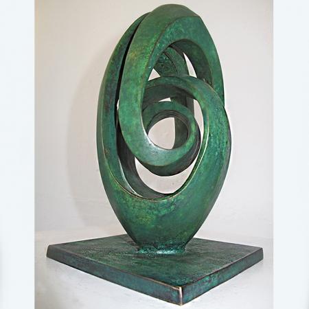 swan-23x14x14cm-bronze-table-top-australian-sculpture