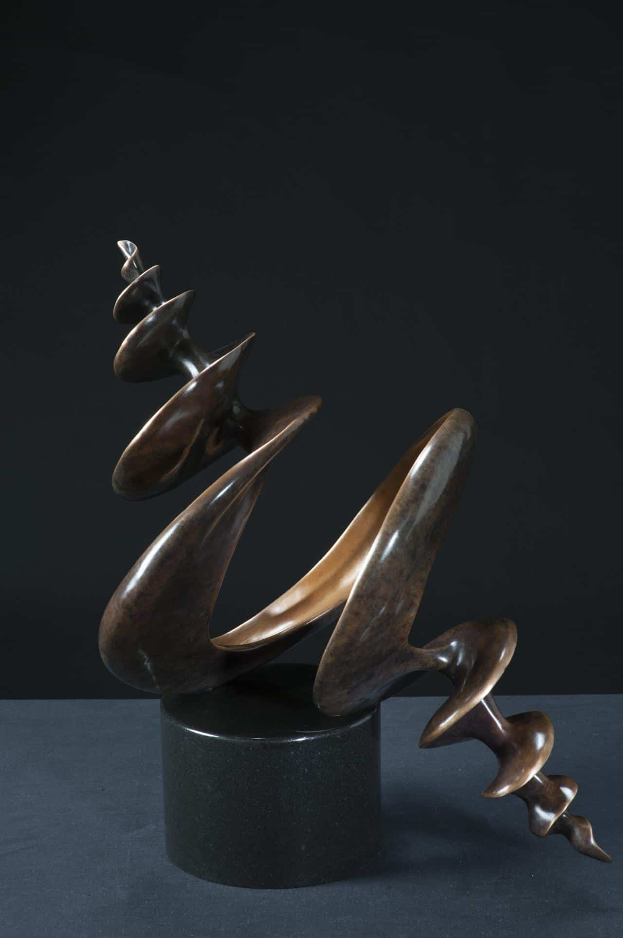 bronze shell sculpture