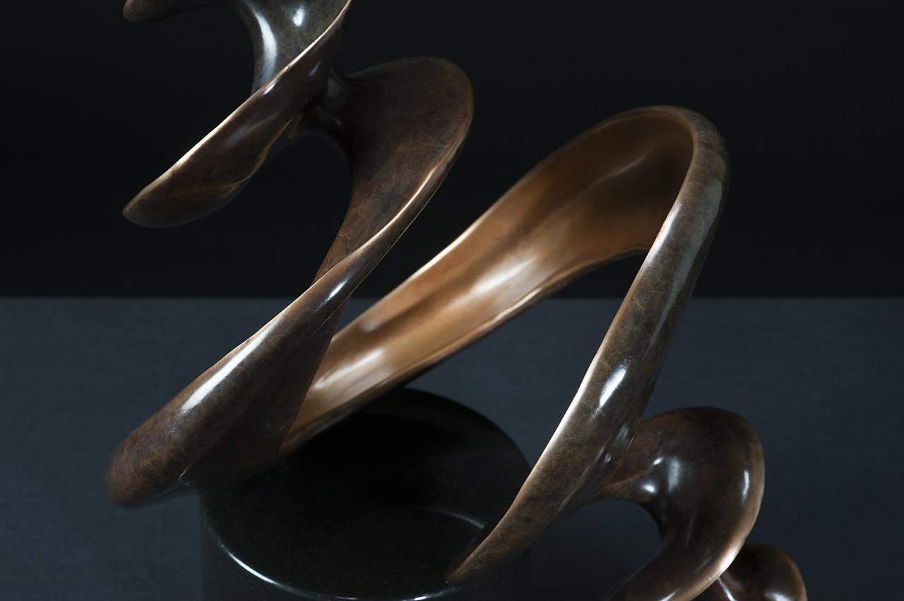 bronze shell sculpture