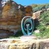 Vein-Vine-100x60cm-BRONZE-with--TEAL--PATINA[,Free-standing,bronze-outdoor]blazeski-australian-abstract-sculpture