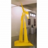 large scale abstract yellow sculpture, australian sculpture