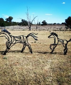Mare n Foal - hunter valley sculpture