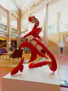 abstract australian sculpture, peeled fruit