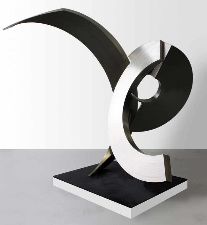 M32 james parret large stainless steel abstract
