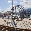 walsh bay sculpture, large sphere sculpturesphere