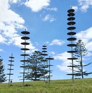 totem garden sculpture