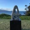 stone sculpture, granite garden art