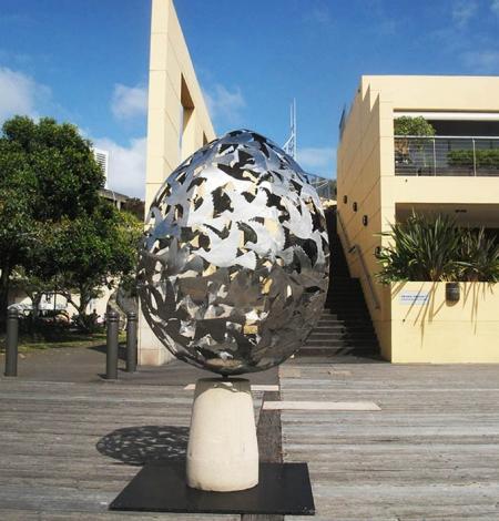 steel sphere sculpture