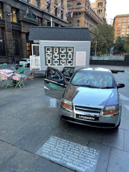 Tiny Car and House sydney sculpture installation