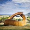 biosis-320cm-CORTEN-STEEL-[corten,outdoor,landmark]-david--ball-australian-sculpture
