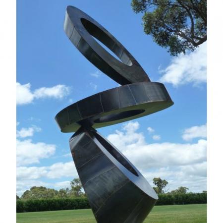 Elipse-Tower--440cm-CORTEN-STEEL-[corten,outdoor,landmark]-david-ball-australian-sculpture
