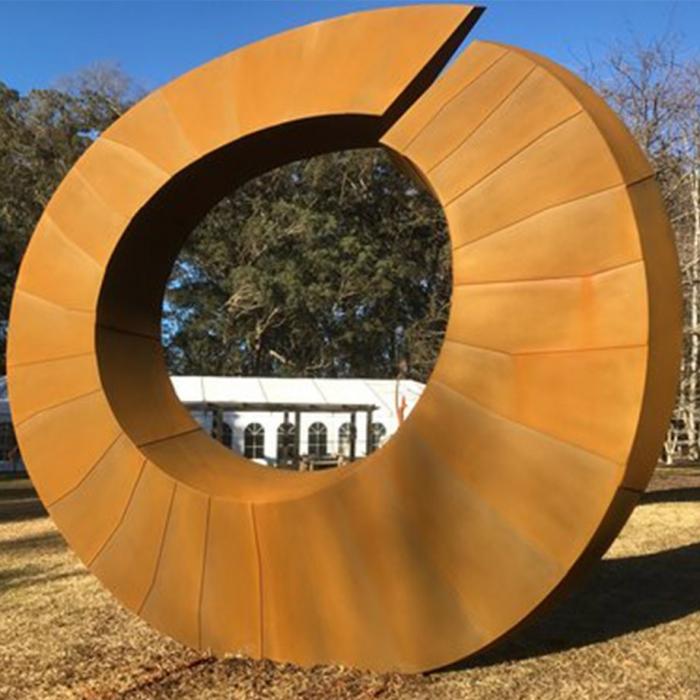 Helix-II--360cm-CORTEN-STEEL-[corten,outdoor,landmark]-david--ball-australian-sculpture