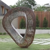 outdoor sphere sculpture, australian metal garden art