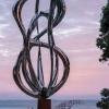 stainless steel abstract sculpture, exterior australian sculpture