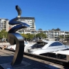 tranquility stainless steel exterior sculpture