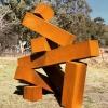 Three-sheets-on-sunday-2.6mx2.4m-CORTEN-STEEL-alex-shiebner-australina-sculpture-large-scale-cube sculpture