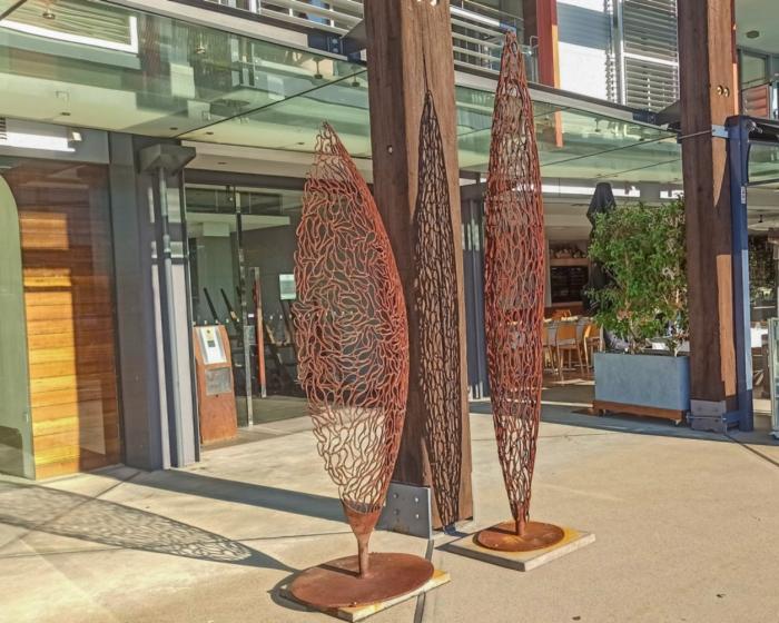 part-pod-_-still-standing metal outdoor sculpture