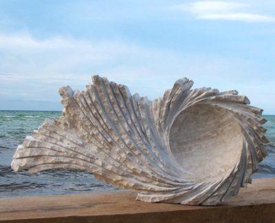 Alvarado  Vortex marble sculpture