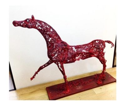 ED RED HORSE SCULPTURE